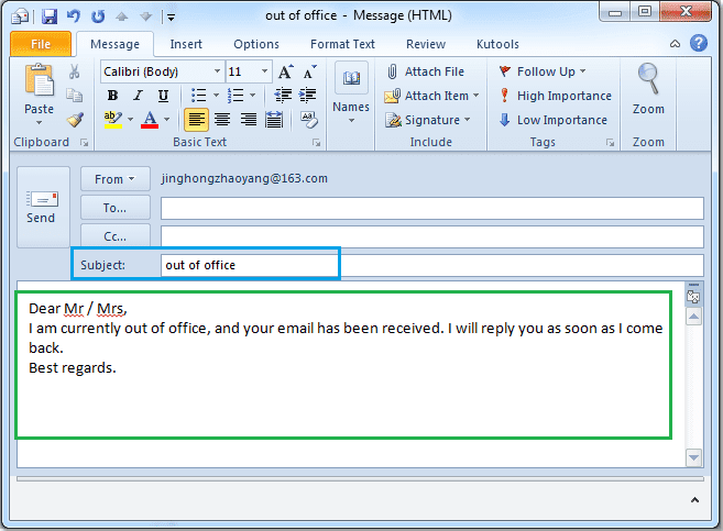 out of office message outlook 2010 template - lydia ryde information technology blog