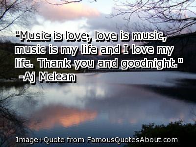 good night music is love, love is music,