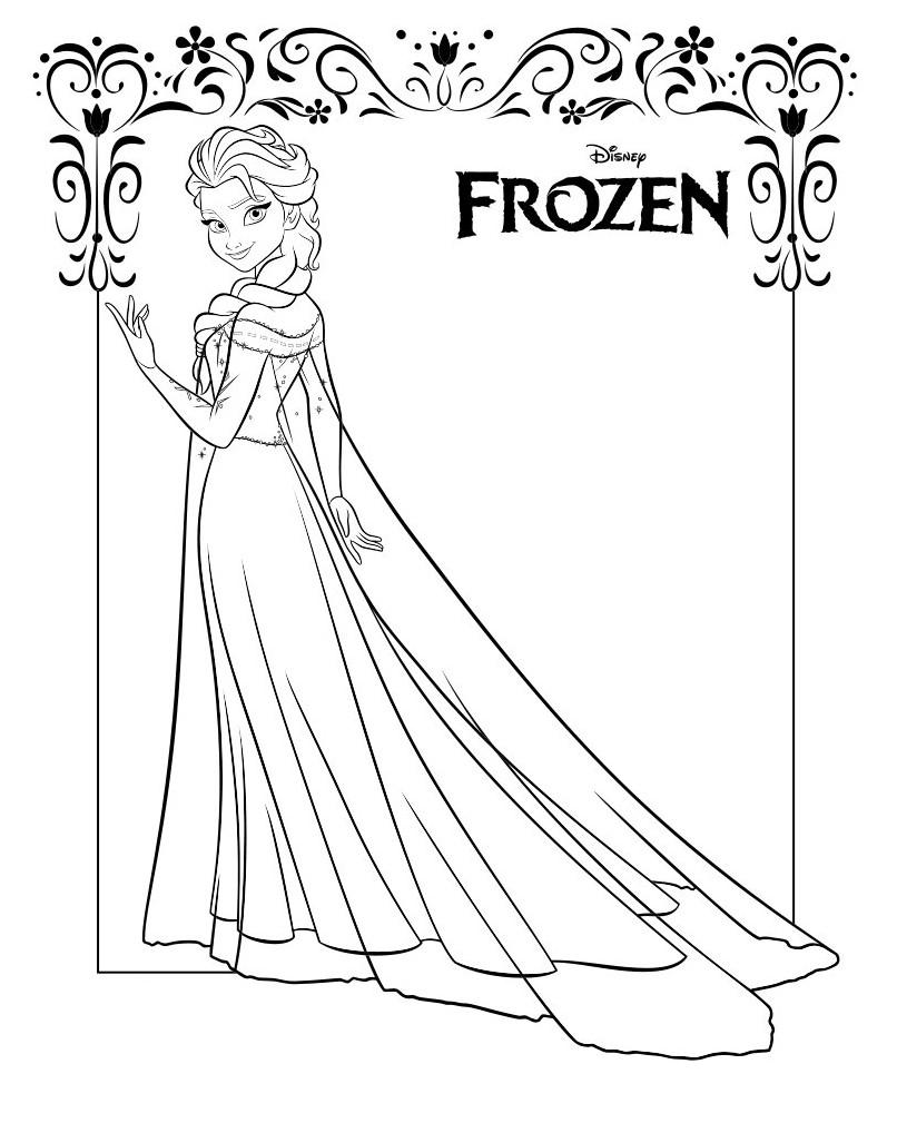 Gambar Frozen Untuk Diwarnai : gambar, frozen, untuk, diwarnai, Gambar, Kartun, Frozen, Untuk, Diwarnai, Gratis, Cikimm.com