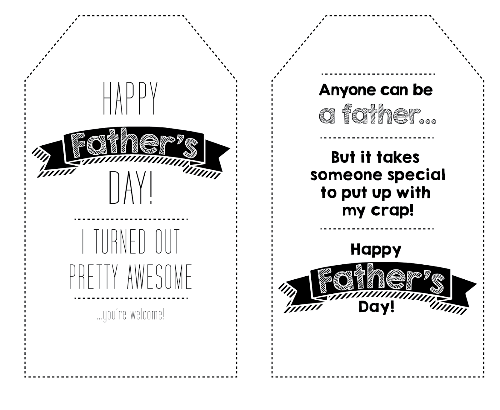 Cheryl Makes Blog Launch With Free Father S Day Printable Tags