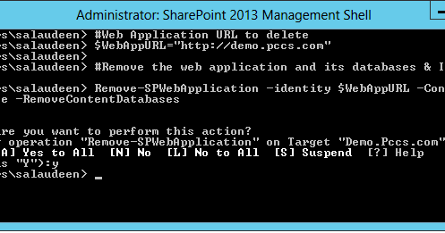 how to create web application in sharepoint 2013 using powershell