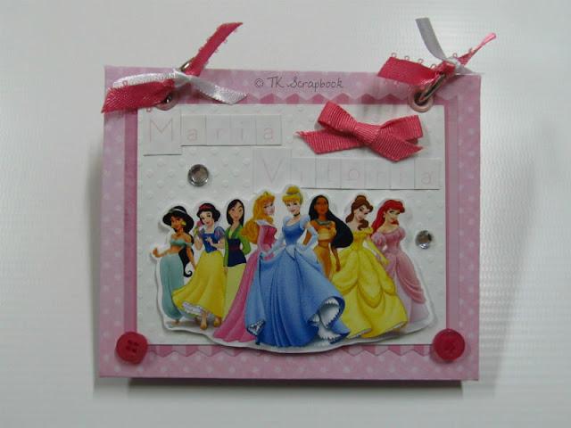 mini album de fotos scrapbook princesas disney