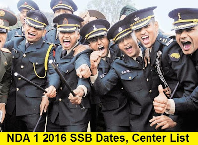 NDA 1 2016 SSB Dates, Center Allotment and Merit List