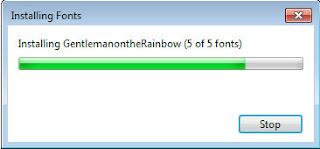 cara install font