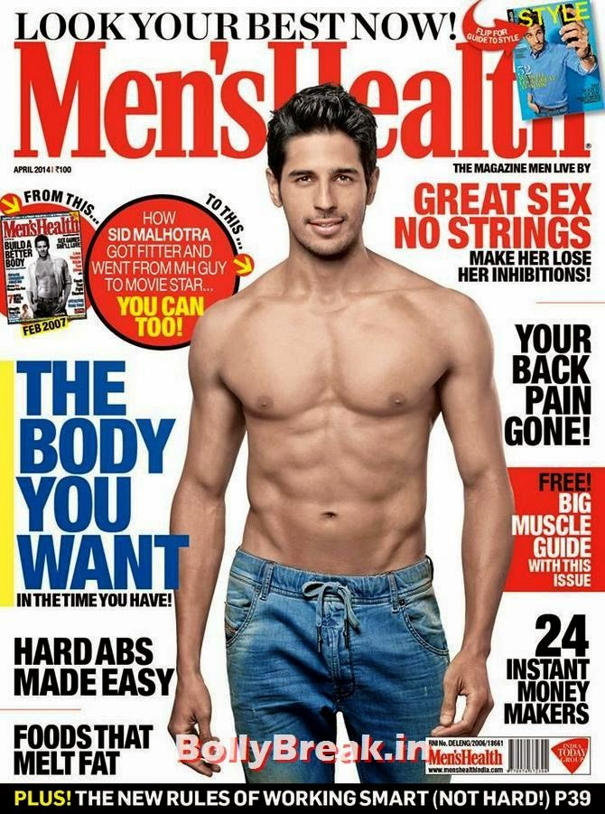 Sidharth Malhotra, Bollywood Actors Hot & Sexy Pics on Magazine Covers