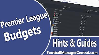 Premier League Budgets FM17