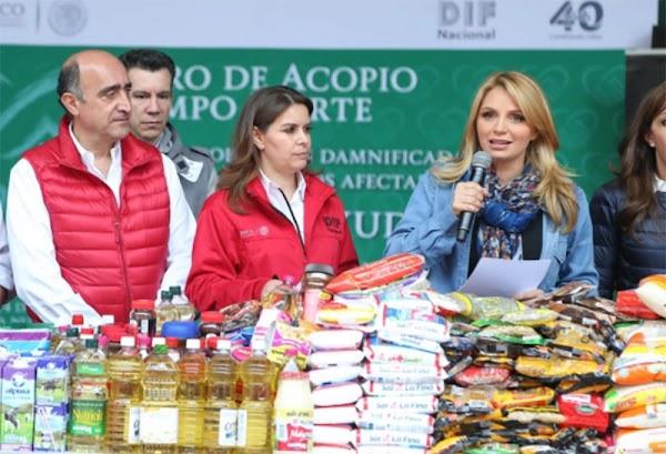 Angélica Rivera no dono dinero pero reconoce la unión de México para ayudar a Oaxaca y Chiapas