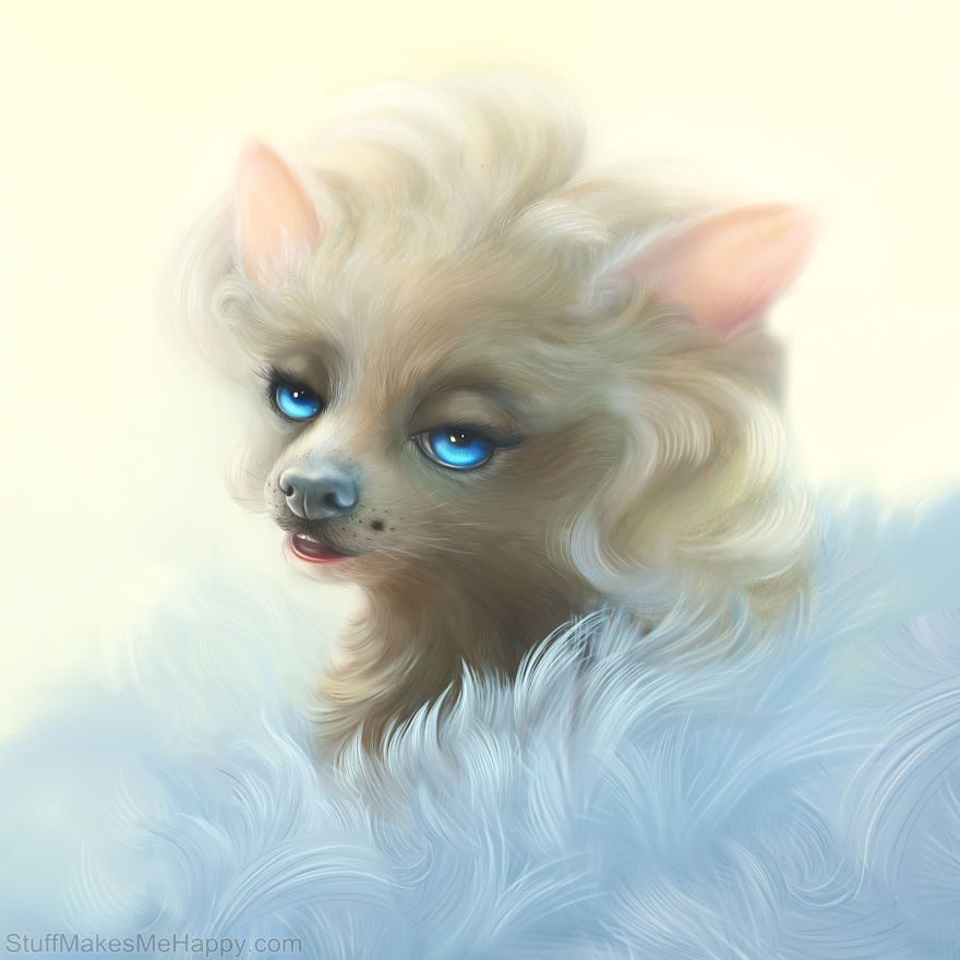If the Souls of Historical Personalities Moved into Animals: A Series of Paintings by Christina Hess