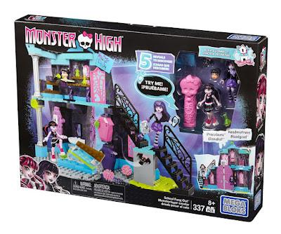 TOYS : JUGUETES - MEGA BLOKS Monster High  Monsterlugar escolar para pasar el rato  School Fang Out   2016 | Mattel DPK34 | Piezas: 337 | Edad: +8 años  Comprar en Amazon España & buy Amazon USA