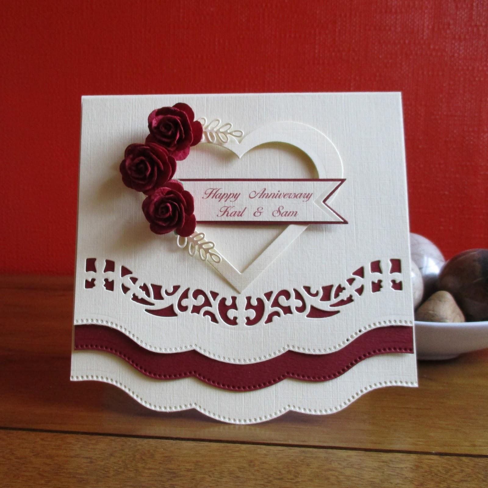 Cards From Lynnes Loft 1st Wedding Anniversary Card