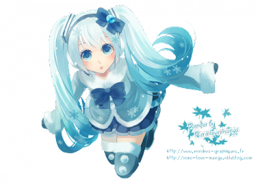 render miku snow