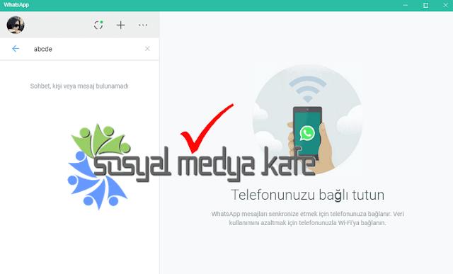Bilgisayara WhatsApp Kurulumu Resimli Anlatım