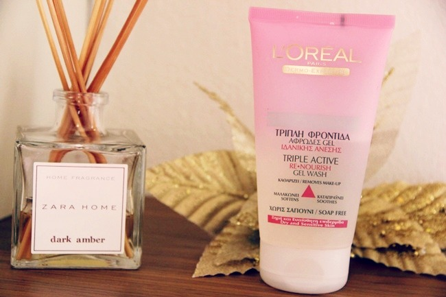L'Oreal Triple active re-nourish gel wash