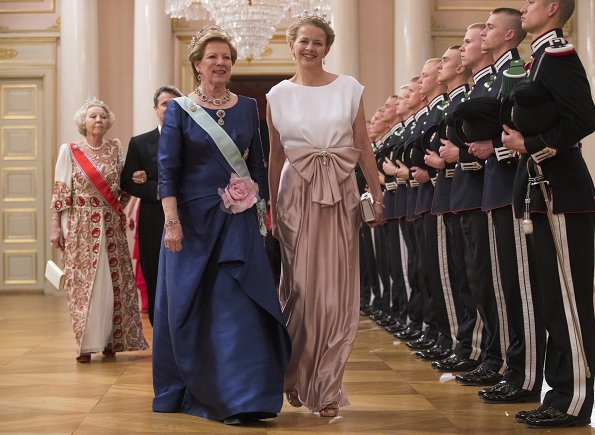 Queen Silvia, Queen Maxima, Grand Duchess Maria-Teresa, Queen Margrethe, Queen Mathilde, Crown Princess Victoria, Princess Sofia, Crown Princess Mary, Crown Princess Mette-Marit, Princess Stephanie, Princess Märtha Louise, Princess Beatrix, Princess Astrid, Queen Anne-Marie, Princess Mabel