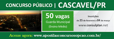 Concurso Guarda Municipal de Cascavel 2016,