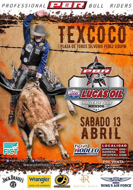 rodeo pbr feria del caballo texcoco 2019