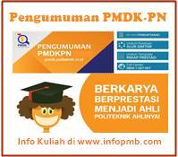 Informasi yang akan admin sampaikan kali ini berjudul  Pengumuman PMDK-PN 2019/2020