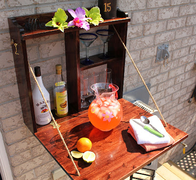 fold down backyard patio bar
