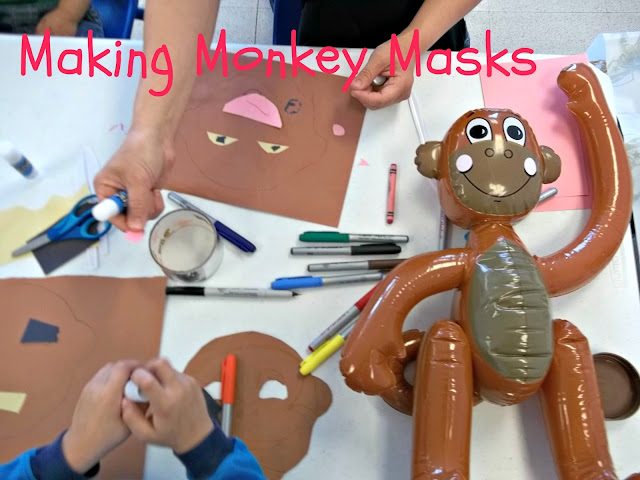 Make a Monkey Mask, Treat, and Read Companion Story Preschool Activity