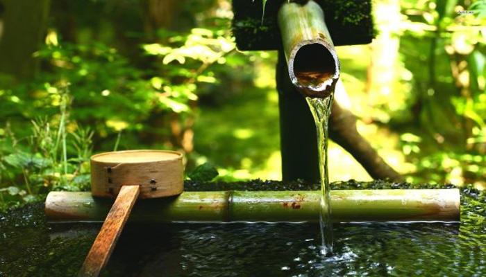 Cara Membuat Air Mancur Dari Bambu