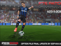 PES 2018 Option File untuk PTE 5.1 update 23/11/2018