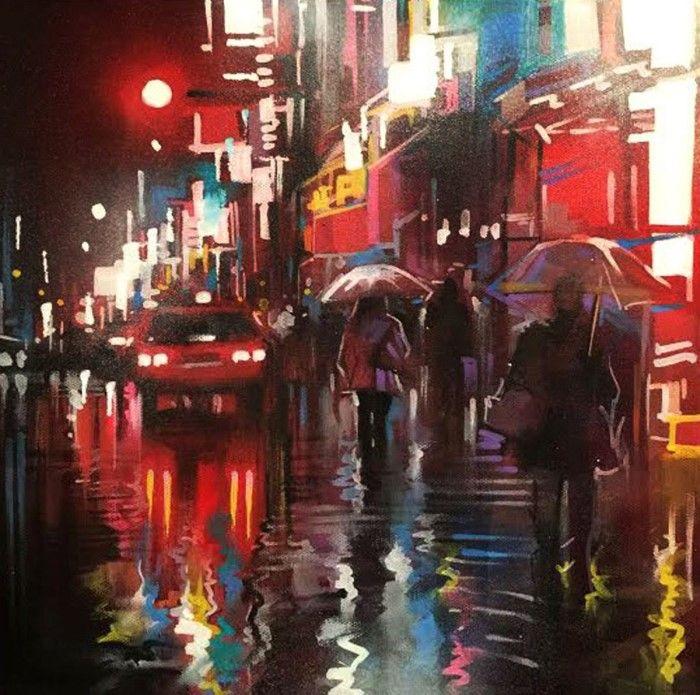 Городские пейзажи. Dan Kitchener