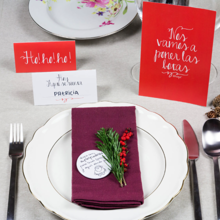 Elabora los menús de Navidad e imprímelos