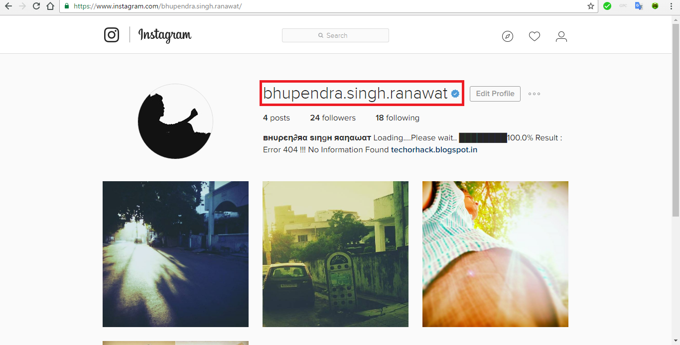 How to get a verified badge on instagram account using html editing now you can see your verified badge or the blue tick with your name buycottarizona Image collections