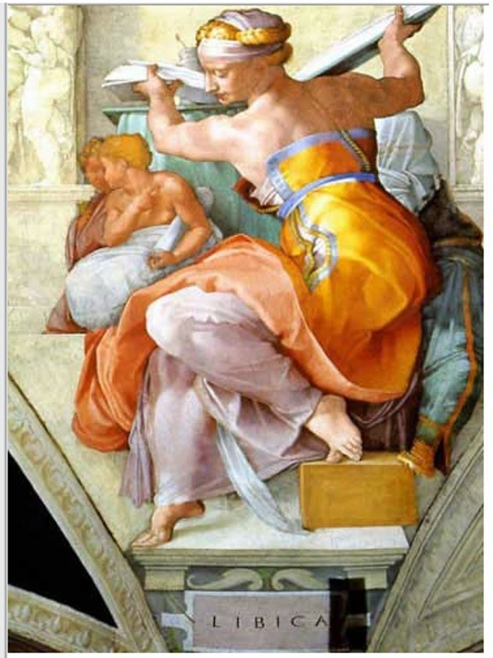 The Libyan Sibyl - Michelangelo