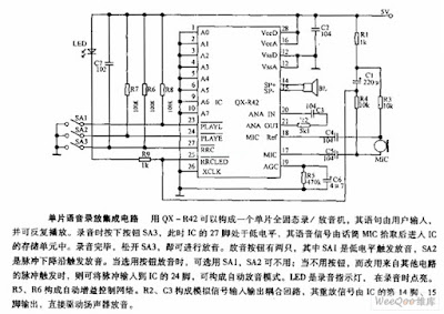 Monolithic Voice Record-replay Intergarted Circuit Diagram