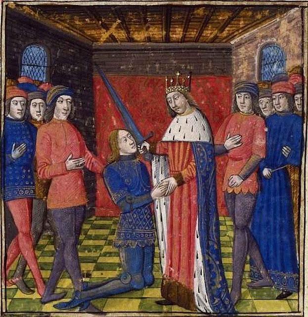 O 'adoubement' era a sagração do cavaleiro e marcava seu ingresso na cavalaria.