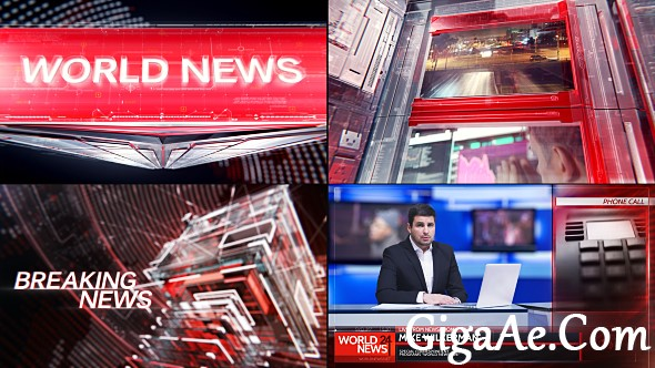 news broadcast graphic package 1 videohive free after effects