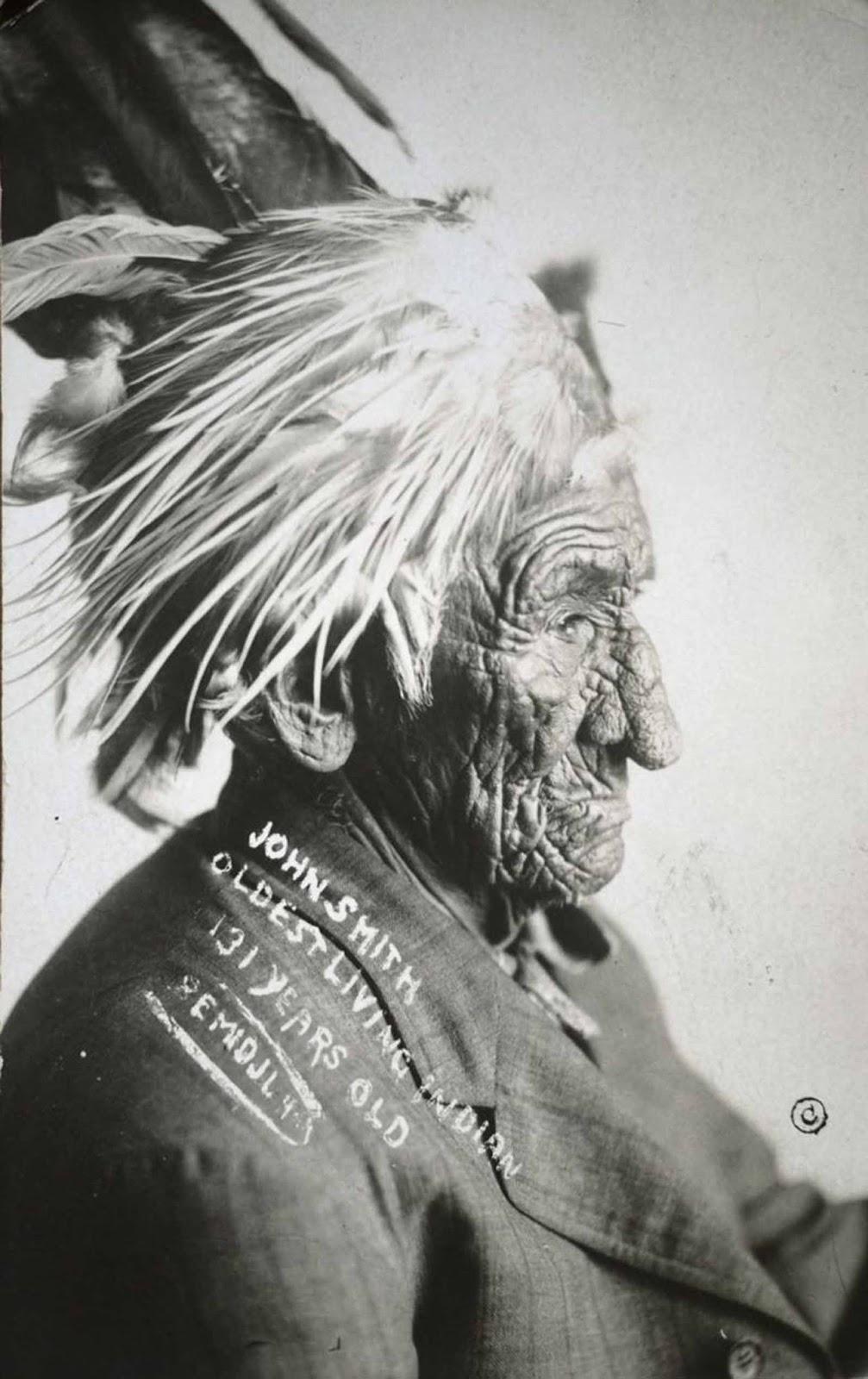 chief john smith 2 - Possivelmente estes senhores foram - A pessoa mais velha do mundo