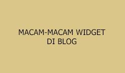 12 Macam - Macam Widget pada Blog