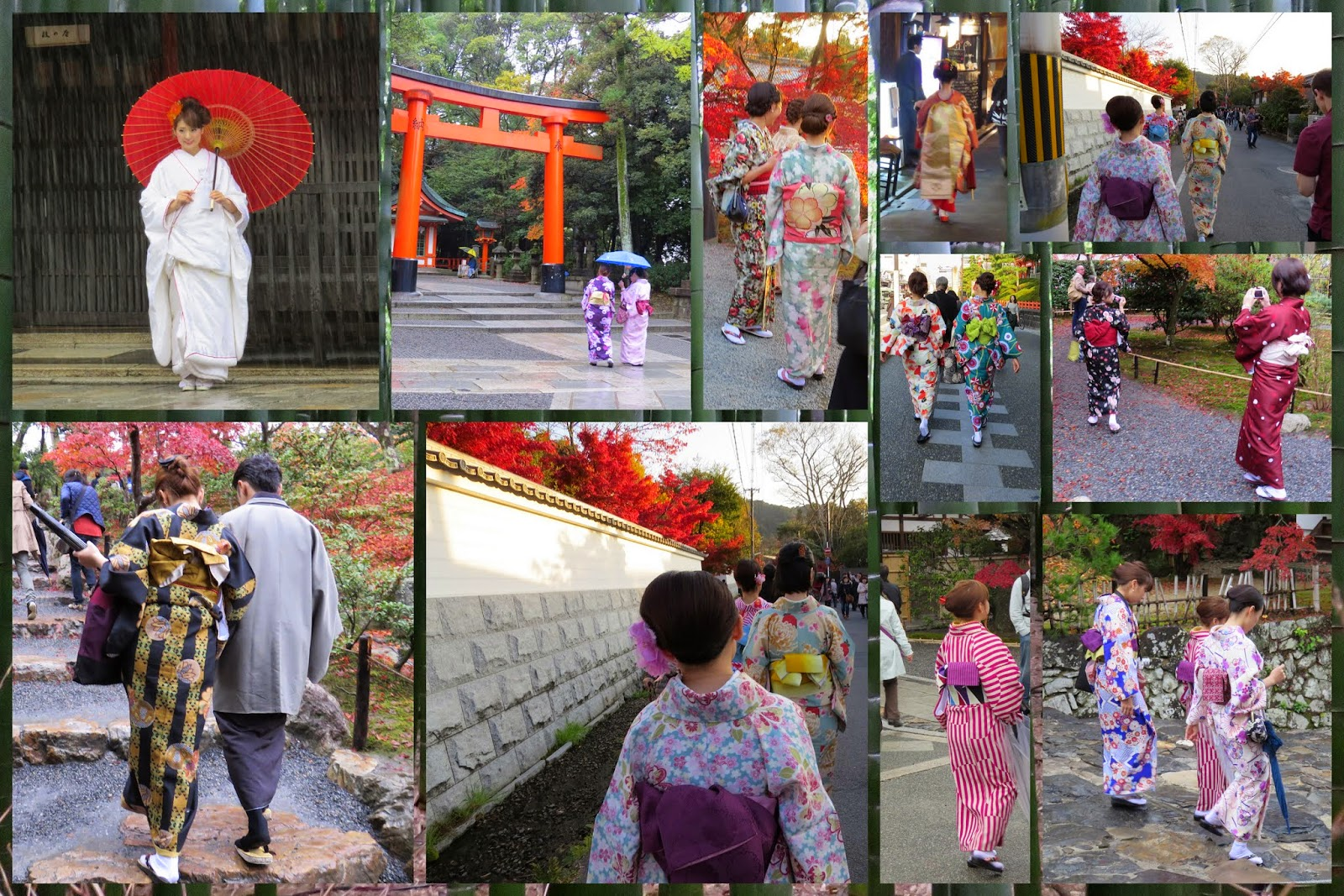 Traditional Dress in Kyoto, Japan