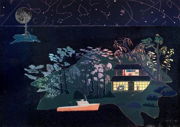 "Tom Hammick - ""Cloud Island"", 2017 | imagenes de obras de arte bellas, bonitas chidas, cuadros, art pictures, cool stuff"