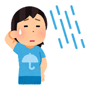 雨女のイラスト(天気)