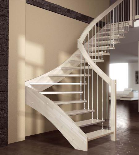 Contoh bentuk tangga rumah spiral yang modern