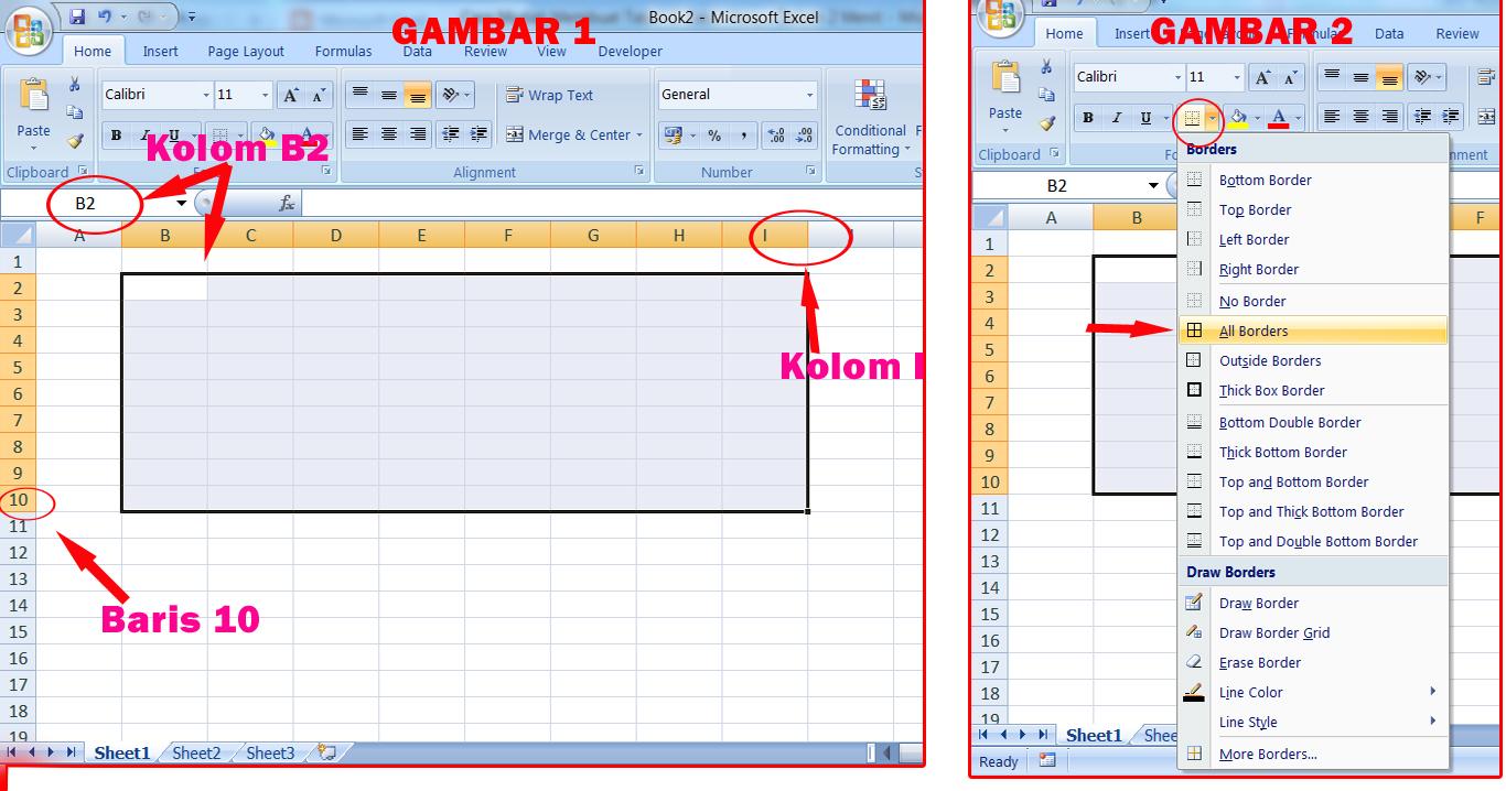 Cara Mudah Membuat Tabel di Microsoft Excel Hanya Dalam 2 Menit - raumus.com
