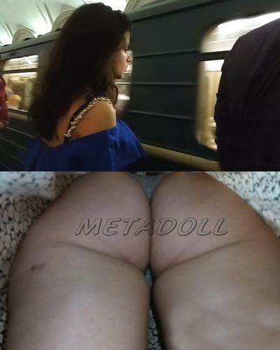 Upskirts 3168-3197 (Public upskirt voyeur takes his chance on the escalator)