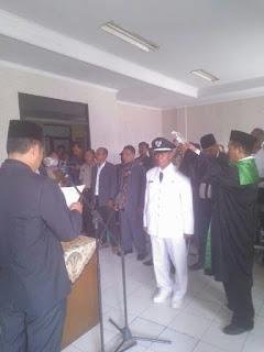 Jaidi dilantik sebagai Pjs Kades Satria Jaya