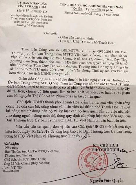 Chủ tịch UBND tỉnh Thanh Hóa yêu cầu Công an tỉnh khới tố hình sự