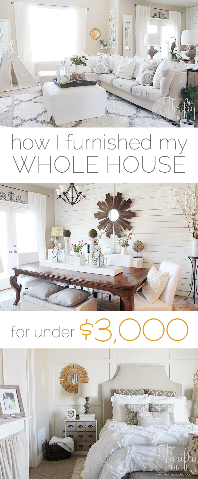 Tips and tricks on how to decorate your house on a budget! how I decorated my whole home for under $3000!