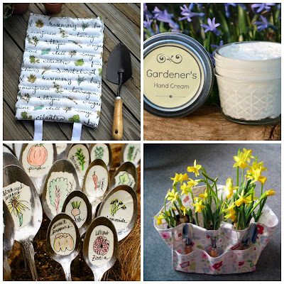 image diy roundup tutorial gifts for gardeners kneeling pad plant markers hand balm tool bag