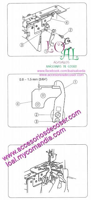 cuchilla supeiro alfa 8704 , cuchilla inferior alfa 8704 , remalladora overlock alfa 8704 , maquina de coser Alfa
