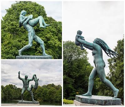 Esculturas del puente del parque Vigelan en Oslo