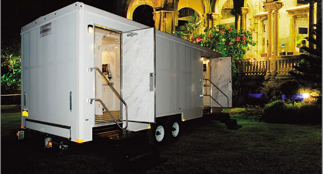 Restroom Trailer Rental:  The Plaza by Callahead