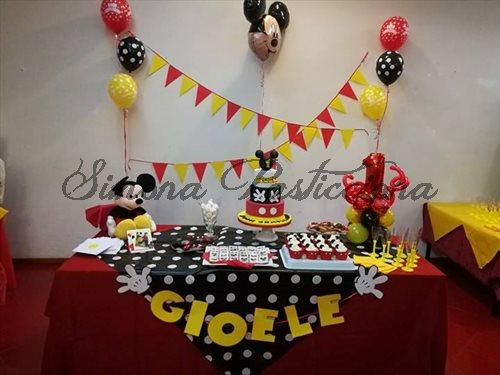 Tavolo Compleanno Topolino : Simona pasticciona festa topolino di primo compleanno gioele