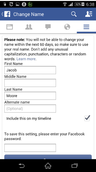 How Do You Change Your Name on Facebook on Android?