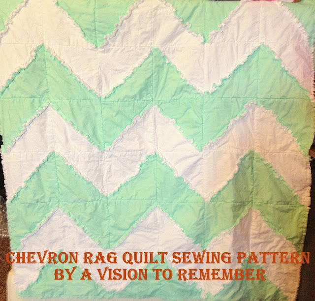 Free Chevron Rag Quilt Pattern With Bonus Car Seat Tent Instructions
